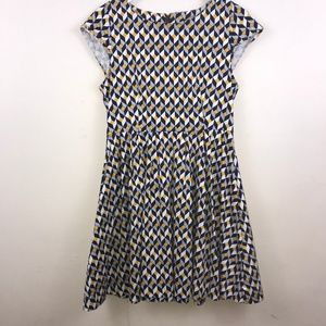 Louche| Geometric Printed Cotton Skater Dress